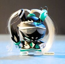Dunny 2014 Art of War KidRobot Patricio Oliver Blue Green Black 3/40 Rarity