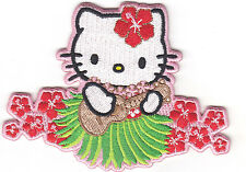 HELLO KITTY w/UKULELE - Cartoon Character/Iron On Embroidered Patch,Children