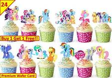48 MY LITTLE PONY Birthday Cup Cake Fairy Edible Wafer Rice Toppers *STAND UP*