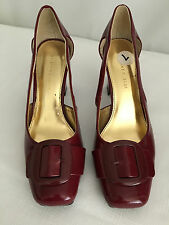 Etienne Aigner Burgundy Pumps with Cutouts - Size 7