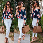 Fashion New Women Sexy Off Shoulder Casual Blouse Summer Tops Beach T Shirt S-XL
