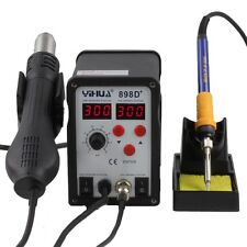 YIHUA 898D+ 2in1 SMD Rework Soldering Station Solder Iron with Heat Hot air Gun
