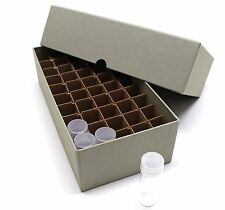 DIME COIN TUBE AND ROLL STORAGE BOX With DIVIDERS GREEN IN COLOR