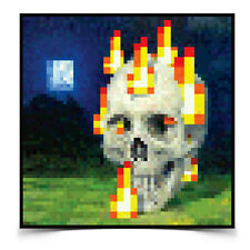 "Minecraft Burning Skull Poster Picture Wall Art Print Official Licensed 24""x24"""