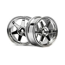 HPI Racing RC Car 1/10 Scale Rays Volk TE37 Chrome Wheels 26mm +3mm 3842