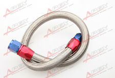 "36"" 8AN SS Braided Racing Performance Oil Fuel Coolant Line Hose Assembly"