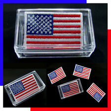 (1 Box = 5 Pcs ) USA Flag American Iron On Patch National Emblem United States