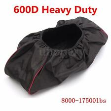 600D Waterproof Soft Winch Dust Cover Driver Recovery 8,000 -17,500 lbs Black