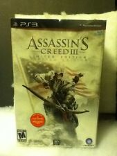PS3 Assassins Creed III LE Ignite The Revolution Connor Statue with Flag Box Set