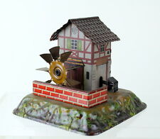 1912 Gebruder Bing German Tin Mill & Hammer Steam Toy PRISTINE Water Wheel
