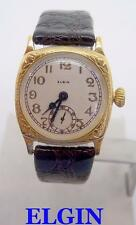 Vintage 18k GP ELGIN Mens Winding Watch c.1920s* EXLNT* SERVICED