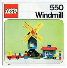 LEGO  550-2: Windmill    NOTICE/ INSTRUCTIONS BOOKLET / BAUANLEITUNG