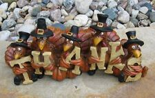 Fall TURKEY Statue*Primitive/French Country Farmhouse/Thanksgiving Table Decor