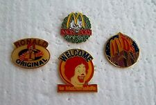 *~* MCDONALD'S LOT OF 4 PINS RARE RONALD ORIGINAL MONOPOLY WELCOME MICKEY D'S*~*