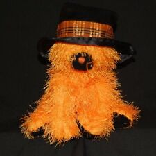"TY Classic 2005 Orange Witch Cat 8"" Plush Stuffed Animal  Plaid Hat Band Lovey"