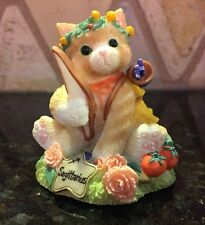 "Enesco Calico Kittens Sagittarius ""You Are Optimistic Spiritual And Insightful"""