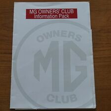 1990s 90s MG OWNERS CLUB EMPTY A4 FOLDER Ideal to store documents