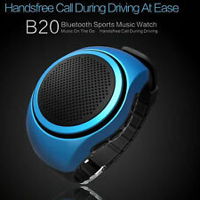 Bluetooth Stereo Music Watch Speaker FM MP3 For Samsung Galaxy S6 S5 A3 A5 J1 J7