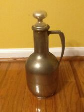 Vintage Metal Carafe Decanter Glass Lined American Thermos Co. Patent From 1910