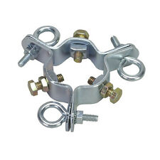 Eagle EZ43A 3 Way Guy Wire Clamp up to 2-1/2 Mast with 3 Screw Eye Bolts