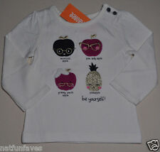 Gymboree toddler girl be yourself shirt top white size 5 5T NWT 100% cotton