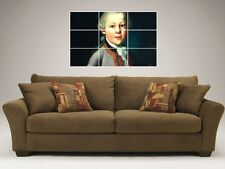 "WOLFGANG AMADEUS MOZART MOSAIC 35""X25"" INCH WALL POSTER"