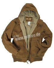 lined Canvas jacket with hood Work Hunting Workout Hooded - M