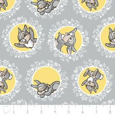 Camelot Disney Bambi Thumper in Grey 100% cotton fabric by the yard