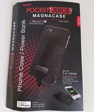 Tzumi Pocket Juice Magnacase iPhone 4/4s Case/Power Bank 1800 mAh w/30 Pin Cable