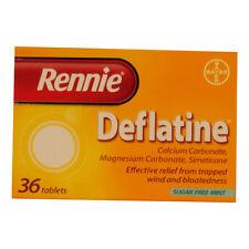 RENNIE DEFLATINE SUGAR FREE MINT TABLETS - 36
