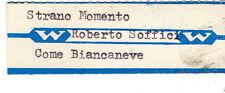 STICKER JUKE BOX - ROBERTO SOFFICI - STRANO MOMENTO - COME BIANCANEVE- WURLITZER