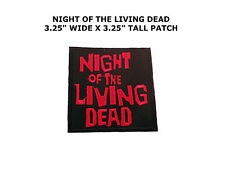 The Night of the Living Dead Logo Iron-on Embroidered Patch Horror Movie Text