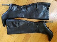 Lauren Ralph Lauren Leather Knee High Heel Boots Sz 7 NEW
