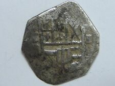 SPANISH COLONIAL 1 REAL COB TOLEDO MINT PIRATE SILVER COIN SPAIN