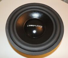 "Truaudio CS-12 12"" inch sub bass speaker removed from powered subwoofer cabinet"