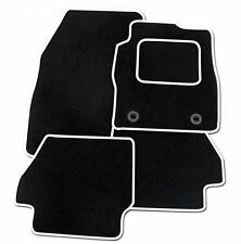 VAUXHALL CORSA D 2007 ONWARDS TAILORED BLACK CAR MATS WITH WHITE TRIM