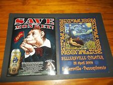 MOONALICE SAVE THE MONKEY GE SMITH POSTER SET rare DAVID SINGER Sellersville PA