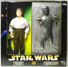 "MIB STAR WARS 12"" Action Collection Han Solo w/ in Carbonite Block POTF ROTJ"