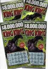 King Kong $10 New York State Scratch Off Lottery Ticket - Used - Very Good +