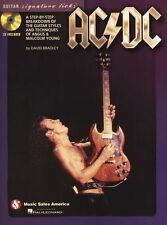 AC/DC Guitar Signature Licks Play Hells Bells Angus Young TAB Music Book & CD