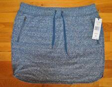 NWT Womens GREEN TEA Navy Knit Skort Skirt Size L Large $48