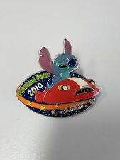 HTF! HKDL 2010 Passholder Exclusive Stitch in car pin ( Disney Space Scrump)