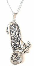 Motorbike Pendant Handcrafted in Solid Pewter In The UK + Free GiftBox