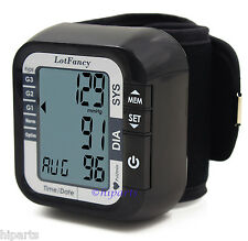 FDA Portable Auto Digital Wrist Blood Pressure Monitor Home BP Machine Device