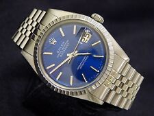 Mens Rolex Stainless Steel Datejust w/Submariner Blue Dial & Jubilee Band 1603
