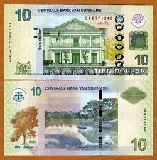 Suriname / Surinam, 10 dollars, 2010, P-163, UNC