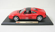 Ferrari 348ts Diecast Model Car with Base - Maisto Special Edition 1:18 - Red