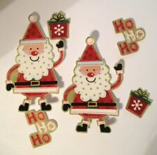 Ho Ho Santas for Christmas  - Iron On Fabric Appliques - Craft Show Projects