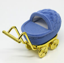 BABY CARRIAGE STROLLER TROLLEY RING NECKLACE GIFT BOX! BABY SHOWER! FREE SHIP!