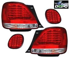 1998-2005 Lexus GS300 GS400 GS430 LED Tail Lights RED CLEAR DEPO 4 PCS